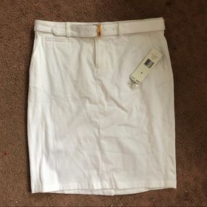 BRAND NEW WITH TAGS RALPH LAUREN WHITE SKIRT